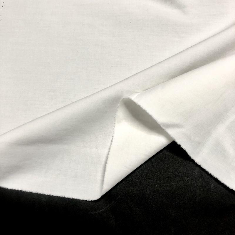 画像1: 【再入荷】No.38 綿高密度二重織 白(製品染め可能) (1)