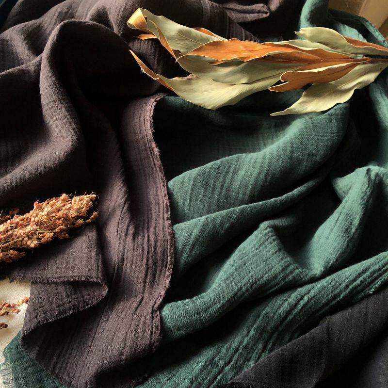 画像1: No.32■ 限定価格 ■細番手で織りあげたトリプルコットンガーゼ 3color (1)