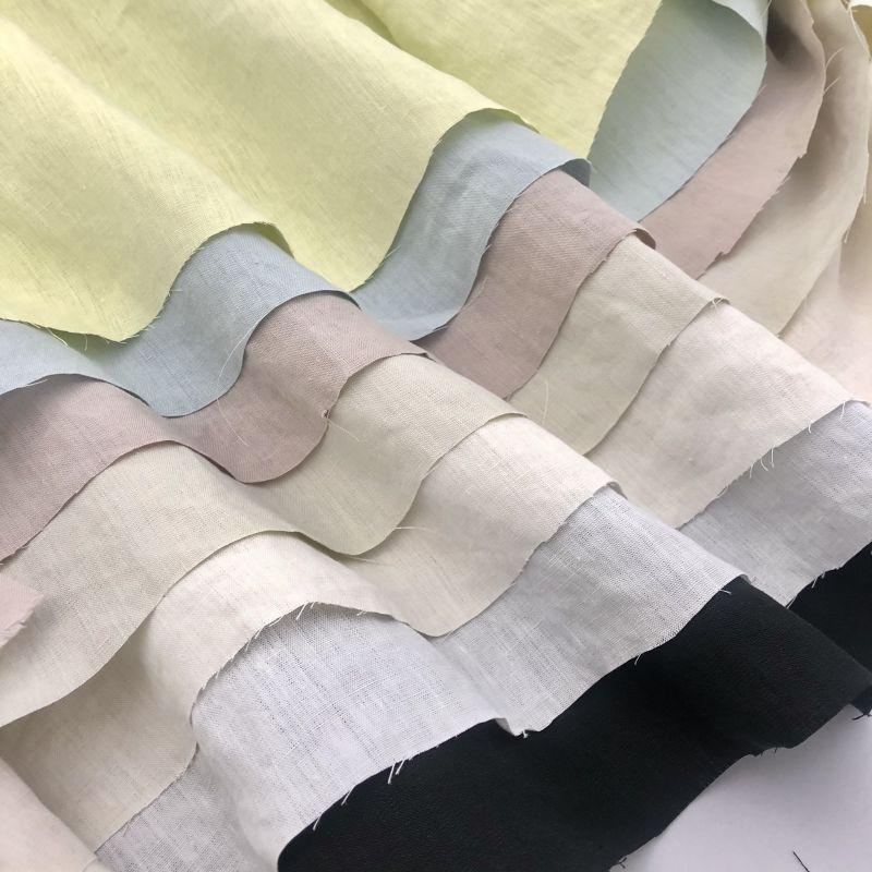 画像1: H-001 ヘンプ40番手平織り 7 color (1)